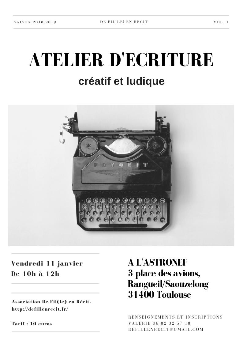 atelier écriture astronef 11 janvier