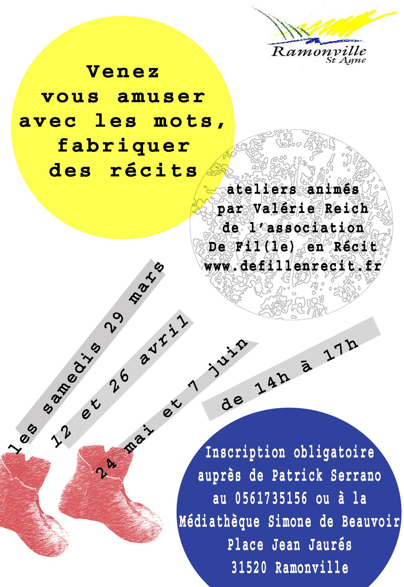 plaquette ateliers écriture pour médiathèque simone de B copie